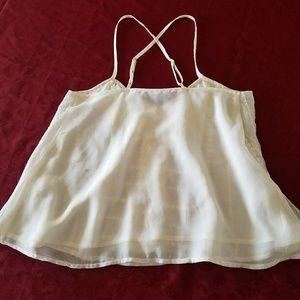 American Eagle Outfitters Tops - White Lace Cropped Tank Top